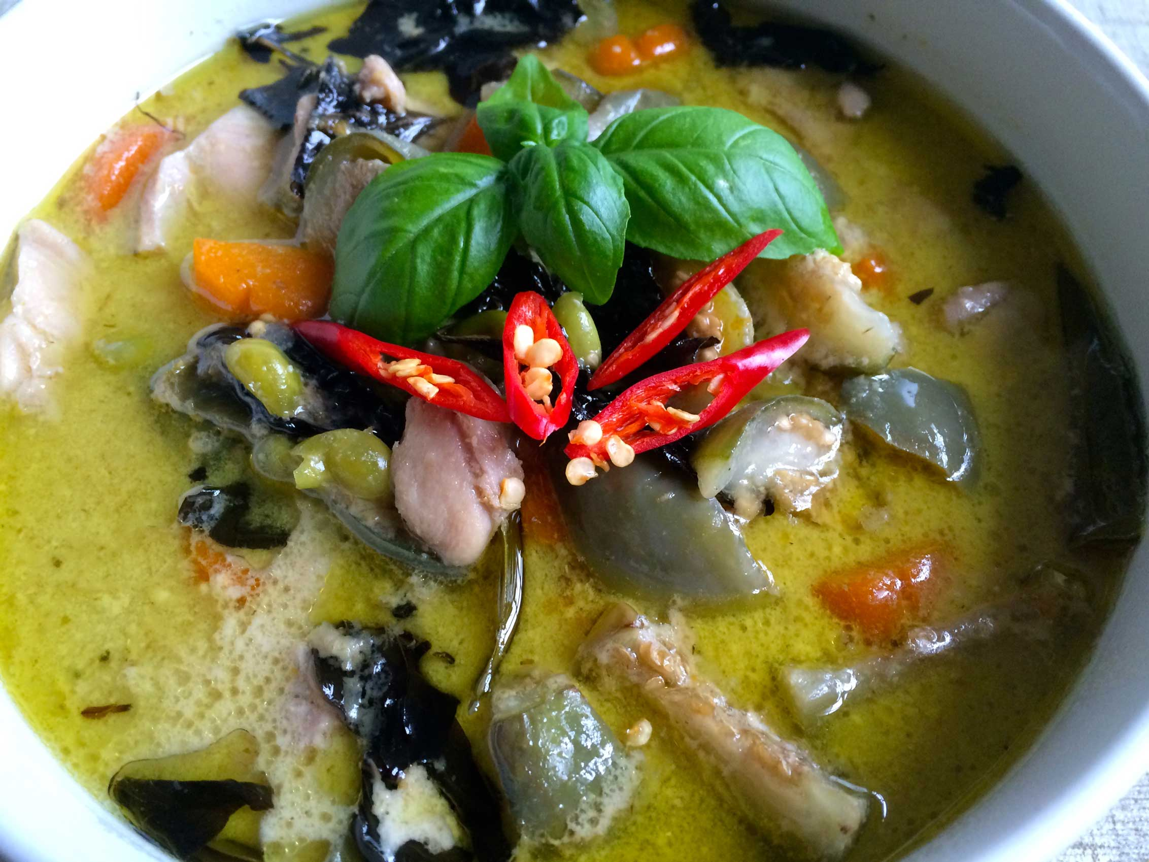 Green Curry (Chicken) with Jasmine Rice